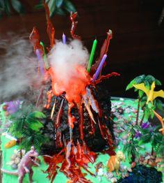 The Amazing Exploding Volcano Cake. Maybe for Heidi's birthday next year.