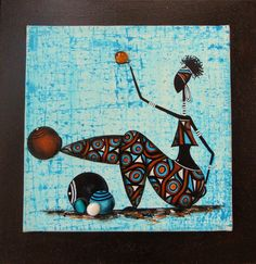 Rasta ( fond bleu) : Peintures par sylphide