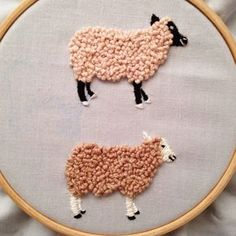 Embroidered Sheep.