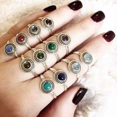 Sterling Silver Birthstone Rings – Druzy Dreams  boho ☾ bohemian ☾ jewellery ☾ jewelry ☾ silver ☾ sterling silver ☾ moonstone ☾ rainbow moonstone ☾ hippy ☾ hippie ☾ rings ☾ birthstone  ☾ january ☾ february ☾ march ☾ april ☾ may ☾ june ☾ july ☾ august ☾ september ☾ october ☾ november ☾ december