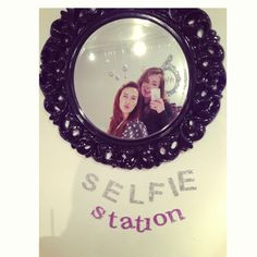 Cute mirrored selfie station!
