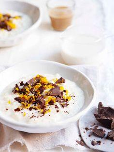 Chocolate-orange champorado | Gourmet Traveller