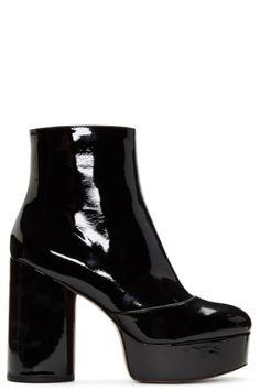 435389a722a8 Marc Jacobs - Black Patent Amber Platform Boots