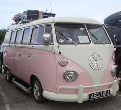 Pretty Pink VW Camper