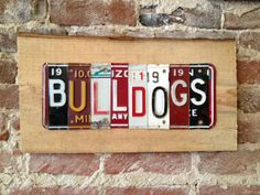 Mississippi State BULLDOGS dawgs recycled license by tomboyART