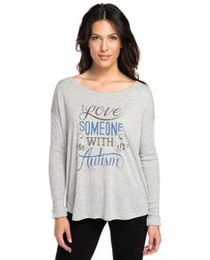 I Love Someone With Autism Flowy Long Sleeve Tee – Sevenly