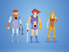 Your Greatest Childhood Heroes, Rendered in Delightful 8-Bit Pixels | Thundercats  by Anthony Barros  | WIRED.com