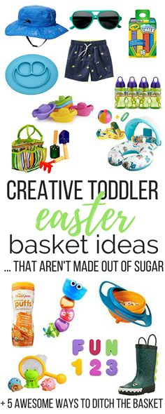 Easter basket stuffers ideas for kids under 10 easter baskets creative toddler easter basket ideas negle Gallery