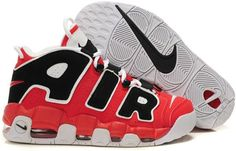 buy popular eefe9 eb2ac Nike Air More Uptempo Scottie Pippen Shoes Red Black White Sport Vans Shoes,