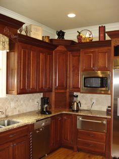 Stupendous Corner Appliance Cabinet with Above Kitchen Cabinet Decorating Ideas…