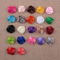 Baby Girls Satin Ribbon Multilayers 3d Fabric Rose Flowers For Headbands Corsage Kid Diy Christmas Hair Styling Accessories Aw07 From Convoy, $0.14 | Dhgate.Com