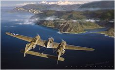Dangerous Skies by Jack Fellows  13th USAAF P-38J's in the Pacific Theater of Operations, 1944.