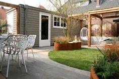 Tuin | Garden ✭ Ontwerp | Design Huib Schuttel en Lodewijk Hoekstra Garden Huts, Balcony Garden, Garden Structures, Garden Buildings, Love Garden, Dream Garden, Back Gardens, Outdoor Gardens, Pavillion