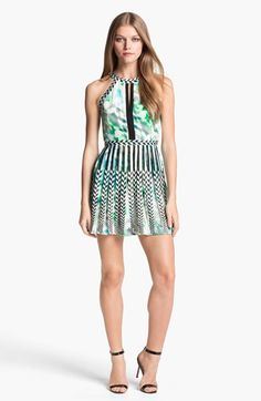 Parker 'Selita' Embroidered Print Fit & Flare Dress available at #Nordstrom
