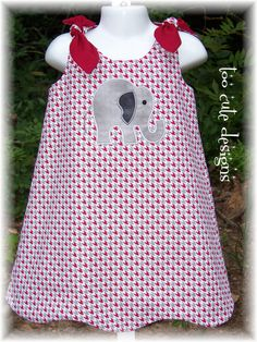 Houndstooth Dress with Elephant Size Toddler Outfits, Kids Outfits, Cute Outfits, Elephant Size, Alabama Elephant, Elephant Dress, Cute Dresses, Beautiful Dresses, Houndstooth Dress