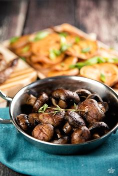 A simple but classic recipe for roasting mushrooms with fresh herbs and plenty of healthy fat.