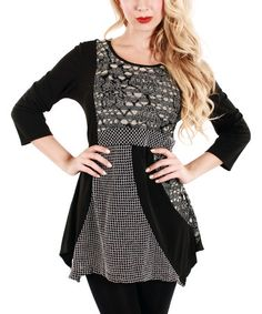 Loving this Black & Gray Empire-Waist Tunic on #zulily! #zulilyfinds