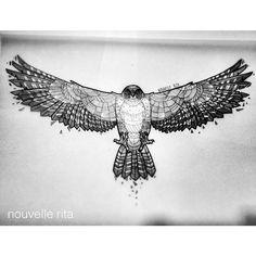 #nouvellerita #tattoosketch #peregrinefalcon #b&w
