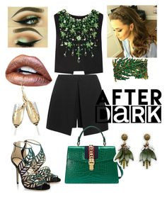 """Green 🍃🍀"" by dolcejaquelin on Polyvore featuring Miu Miu, Jimmy Choo, Alexander McQueen, Gucci and Ann Taylor"