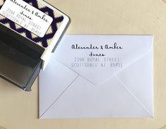 Handwriting Address Stamp Address Stamp Self Address by DeskCandy