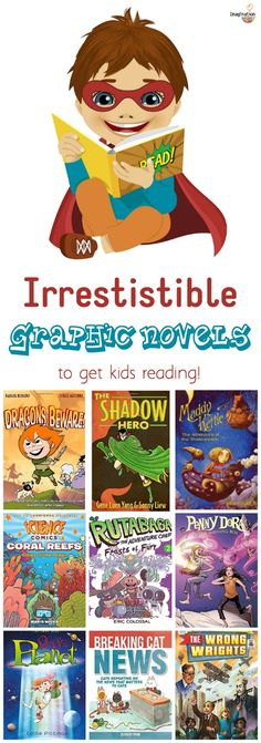 engaging new graphic novels to get kids reading -- my kids will love these from @melissa_taylor2