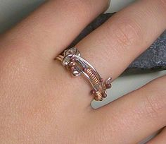 Copper Ball Love Knot Friendship Ring Sterling by YorkAvenueStudio, $25.00