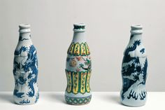 Iconic Western Brand Logos Crafted As Traditional Chinese Ceramics   Coca-cola, mcdonald and more