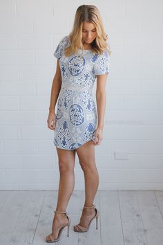 odelia dress - blue | Esther clothing Australia and America USA, boutique online ladies fashion store, shop global womens wear worldwide, designer womenswear, prom dresses, skirts, jackets, leggings, tights, leather shoes, accessories, free shipping world wide. – Esther Boutique