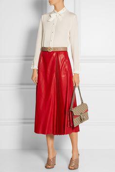 Gucci | Pussy-bow silk crepe de chine shirt | NET-A-PORTER.COM