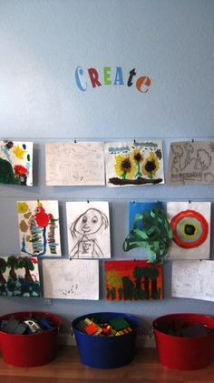 Fun and Organised Boys Playroom, The boys finally have their own playroom after moving into the new house. They have lots of toys so I needed lots of different storage. I drew inspiration from the ideas shared on this site - thank you!, Art Gallery , Boys' Rooms Design