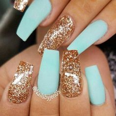 birthday birthday nails 15 Minion Nails That Are Anyth Minion Nails, Tapered Square Nails, Gold Glitter Nails, Matte Nails, Blue Glitter, Matte Gold, Glitter Gif, Oval Nails, Glitter Makeup