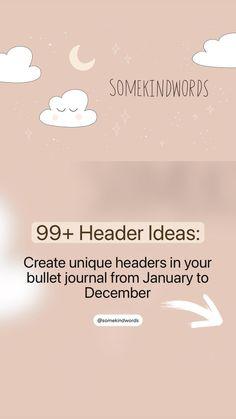 Diy Calendar, Calendar Design, Bullet Journal Themes, Bullet Journal Inspo, January To December, Altered Book Art, Creative Journal, Handwriting Fonts, Header