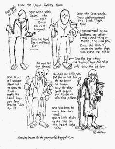 How to draw Father Time Worksheet