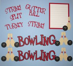 BOWLING Scrapbook Border Set Page Layout / Die by easyscrapbooking, $8.50