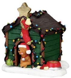 Decorated Light Doghouse - lemax, figurines, christmas, collection, new, ... - The Christmas Hut