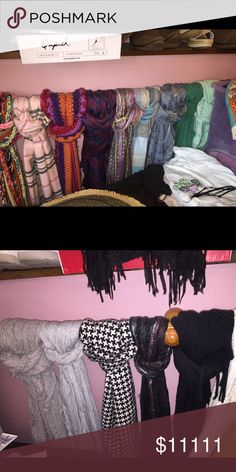Bundle of Scarves Message me for questions about separating, sizes, & pricing. Taking offers!! 😊 Accessories Scarves & Wraps
