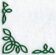 13 Simple Celtic Corner Border Designs Images - Celtic Knot Border Corner Designs, Celtic Knot Border Corner Designs and Simple Celtic Border Design Simple Embroidery Designs, Vintage Embroidery, Machine Embroidery Designs, Embroidery Patterns, Hand Embroidery, Embroidery Stitches, Embroidery Services, Embroidery Supplies, Celtic Patterns
