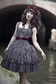 Gothic Lolita dress by indie brand 4 O' Clock.. I wish I had this dress and was this pale!!