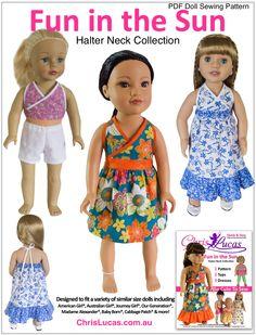 Fun in the Sun - Chris Lucas Designs PDF Doll Sewing Pattern
