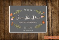 Cute Save The Date Floral Wedding Invitation  by Classicology, $15.00