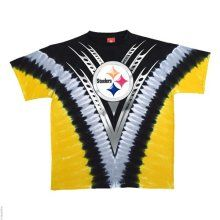 Pittsburgh Steelers Logo V Tie Dye T-shirt - Official NFL T-Shirts and Hoodies at TeeShirtMadness.com