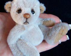 "Tenny Tiny 4"" Teddy bear pattern on Etsy $10 By Helen Gleeson of Bare Cub Designs"