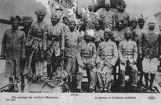Troepen uit India.