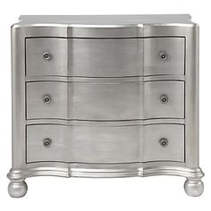 Platinum finished Jules 3 Drawer Chest, $499.00 #ZGallerie