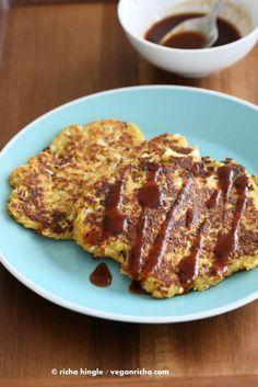 Vegan Okonomiyaki (Cabbage-Carrot Pancakes)