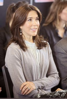 Princess Mary visited a school in Copenhagen with its founding to present a project fighting against harassment at school.
