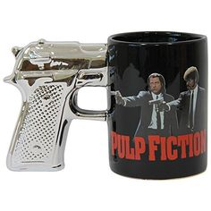Pulp Fiction Gun Handle Coffee Mug @ niftywarehouse.com #NiftyWarehouse #Nerd #Geek #Entertainment #TV #Products
