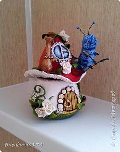 Здравствуйте мои Дорогие!!! Сегодня хочу показать Вам мои шкатулочки из полимерной глины и папье-маше.... Вроде не плохо получились:) фото 6
