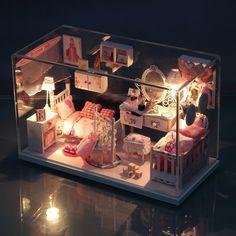 Doll House DIY Miniature Pretty Princess Room 3D