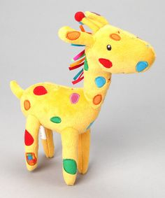 Take a look at this Yellow Kiri Giraffe Plush Toy by Lazoo on #zulily today!
